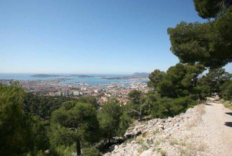 Toulon sentier panorama rade